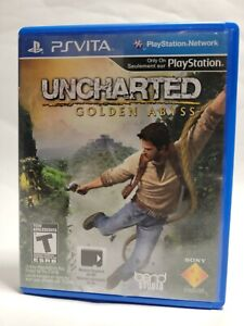 Uncharted: Golden Abyss (PlayStation Vita, 2012) Complete with protective case