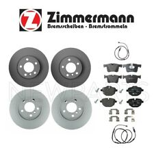 For BMW F25 X3 2.0 L4 Front & Rear Brake Disc Rotors & Break Pads & Sensors Kit