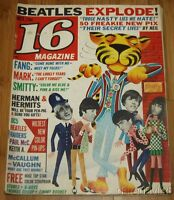 Vintage Oct 1966 16 magazine THE BEATLES CHER THE ROLLING STONES THE BEACH BOYS
