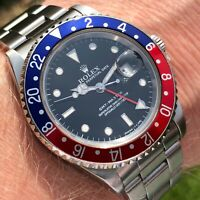 ROLEX 16700 GMT MASTER PEPSI FROM 1991 X SERIAL WITH BOX AND PAPERS