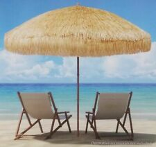 Large 8' Hula Beach Umbrella Tiki Thatch Canopy Patio Pool Market Shade