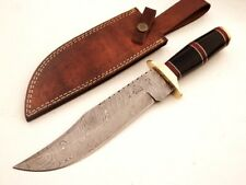 "DKC-816 BLACK BANDIT Bowie Damascus Steel Knife 13"" Overall 8"" Blade 15 oz Hand"