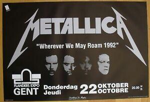 METALLICA original concert poster '92