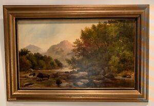 Alfred Augustus Glendening (1840-1910), Gemälde Öl auf Leinwand