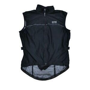 Gore Bike Wear Windstopper Men's Black Cycling Bike Vest Jacket Size S