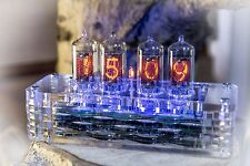 Z573M Z570M Nixie Clock plexiglas housing | as Z568M In-18 | Handmade & Unique