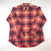 Viyella Mens Vtg Edition Flannel Plaid Cotton Long Sleeve Tartan Shirt - Sz L