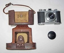 """Olympus 35"" Camera w/Zuiko Fc-3.5 Lens f=40m /Copal Shutter to 300-Leather Case"