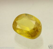 "8.30 CT Lab Created Yellow Sapphire ""Excellent Quality"" Cushion Shaped Gem ""LS8"""