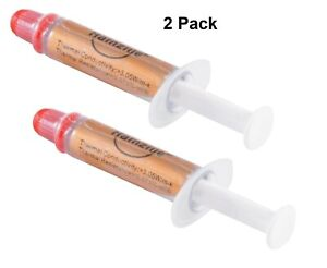 2Pcs High Performance Gold Thermal Grease CPU Heatsink Compound Paste Syringe