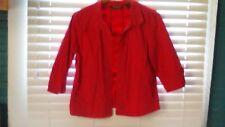 Eddie Bauer Women's Jacket Red Button Front 3/4 Sleeve Size S