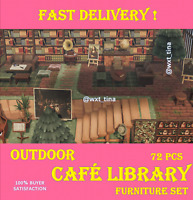 ☕ Outdoor Café Library 📚 Furniture Set 72 Pcs FASTEST!!!