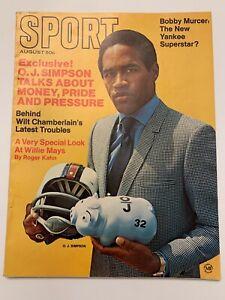 1969 August Sport Magazine O.J. Simpson, Willie Mays,Murcer,(B86)