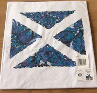 SCOTLAND SALTIRE FLAG T SHIRT WOMENS LADIES WHITE EXTRA SMALL MEDIUM LARGE GIFT
