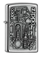ZIPPO - BENZIN - FEUERZEUG - MOTOR PARTS EMBLEM - 2006539 -