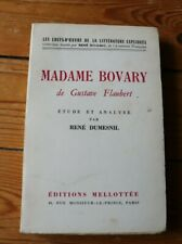Madame Bovary Flaubert étude analyse Dumesnil éditions Mellotée