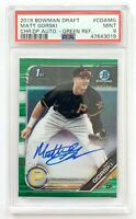 2019 Bowman Chrome Draft MATT GORSKI Autograph Green Refractor SP /99 PSA 9 MINT