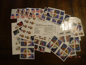 200 @ Forever US Postage Stamps - 200 misc stamps - Free Ship - $110 Value