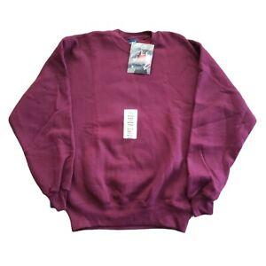 Vintage HIS H.I.S Crewneck Sweatshirt Burgundy Size Medium Cotton Blend USA