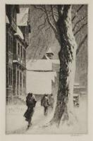 Winter on White Street : Martin Lewis Archival Quality  Art Print
