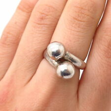 Ball Design Ring Size 6 925 Sterling Silver Vintage Mexico Bypass