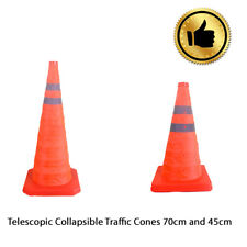 Collapsible Fluorescence Traffic Cones Emergency Use 45cm 70cm Road Safety