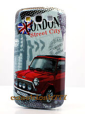 for Samsung galaxy i9300 s3 S III hard back case cover London big ben car retro