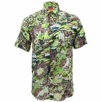 Mens Loud Shirt Retro Psychedelic Funky Party REGULAR Short Sleeve Floral