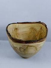 Handmade Natural Edge Ambrosia Maple Bowl. OUTSTANDING Beautiful Colors!  #43