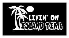 LIVING ON ISLAND TIME 5X7 TIKI BAR SAND SURF BEACH LAPTOP VAN CAR DECAL STICKER