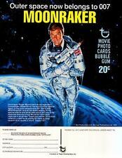 James Bond Moonraker Trading Cards Dealer Sell Sheet Sale Ad Topps Roger Moore