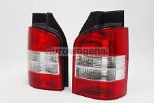VW Transporter T5 Caravelle 03-15 1 door Clear Rear Tail Lights Pair OEM Hella