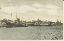 CIRCULAR QUAY SYDNEY NSW 1908 POSTCARD SHIPS