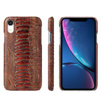 Fierre Shann Genuine Leather Ultra Thin Case Back Cover for iPhone X XS Max S8 +