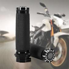 "1"" INCH Motorcycle Handle Bar Hand Grips For Harley-Davidson Cruiser Chopper BLK"