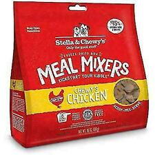 New listing Stella & Chewy Freeze-Dried Raw Meal Mixers Chicken Flavor Dog Food 18oz