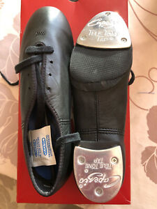Capezio 'CG06' Low Heel Split Sole Tap Shoes- Black - Teletone Taps Fitted
