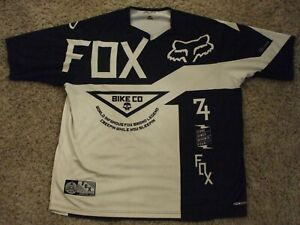 Fox Cycling Jersey Black and White Adult Size XL