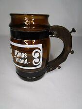 KINGS ISLAND AMUSEMENT PARK BROWN AMBER GLASS BEER MUG SIESTA WARE