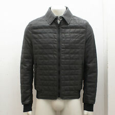 NEW Lanvin Grey Quilt Stitch Leather Jacket GENUINE RRP: £2,980 BNWT - Size 50