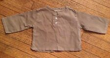 Alice A Paris Kids Courduroy Tunic 100% Cotton Khaki Unisex Size 12