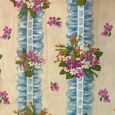 1 meter BEAUTIFUL VINTAGE FRENCH FLORAL LINEN COTTON c1960s REF PROJECTS 275