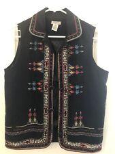 GRAFF Um Company -Sz M Lux Southwest Embroidered Vest Jacket. Preowned
