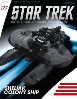 Eaglemoss Star Trek Starships Sheliak Colony Ship 177 w/ Collector Mag. IN STOCK