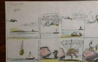 """Disney Studios Original Comic Strip Drawing of """"SCAMP"""" 8/6/78 by Bill Berg"""