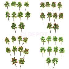 40x Plastic 1/200 Model Trees Z Gauge w/ Flower Layout Wargame Scene Diorama