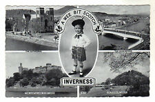Inverness - Multiview  Real Photo Postcard 1953