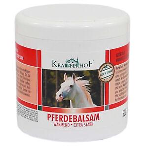 Kräuterhof Pferdebalsam Balsam wärmend extra stark Gel Creme 500 ml