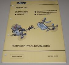 Technische Information Ford Fiesta ´89 Bremsen Lenkung Achsen Räder Reifen 1989!