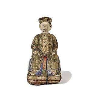 18th Century Chinese Wooden Carving Of An Official
